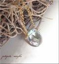 緑紫の蛍石  ネックレス