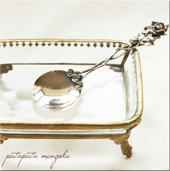 画像1: 銀のローズ スプーン イタリア製