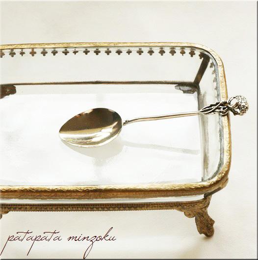 画像1: 銀のフラワー スプーン イタリア製