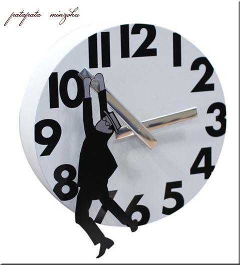 画像1: EDGE WALL CLOCK ハンギングジェントルマン ウォールクロック 掛時計