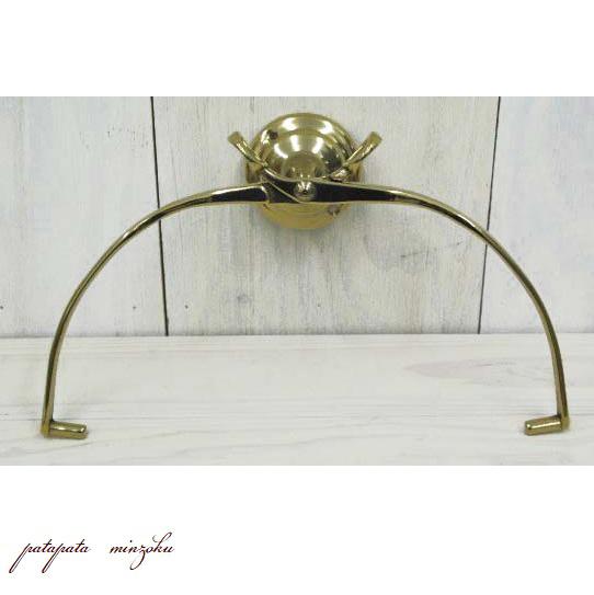 画像1: ブラス キッチンペーパーホルダー 真鍮