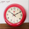 SMITHS 復刻版 レトロウォールクロック レッド ウォールクロック 掛時計