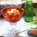 イラン アイスクリーム グラス レッド イランガラス 吹きガラス