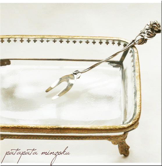 画像1: 銀のローズ ピックフォーク イタリア製