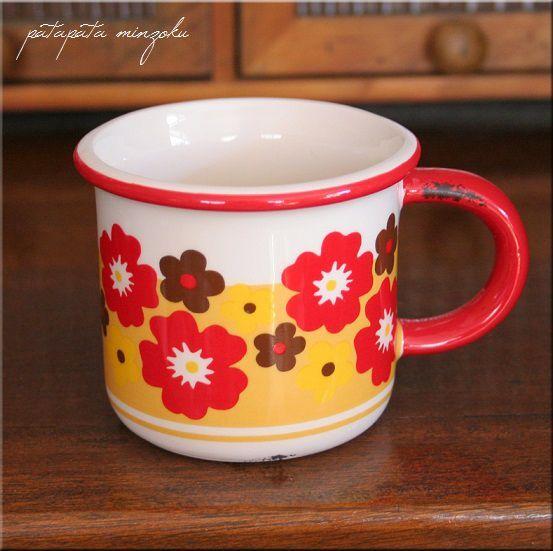 画像1: フルーリ マグカップ レッド