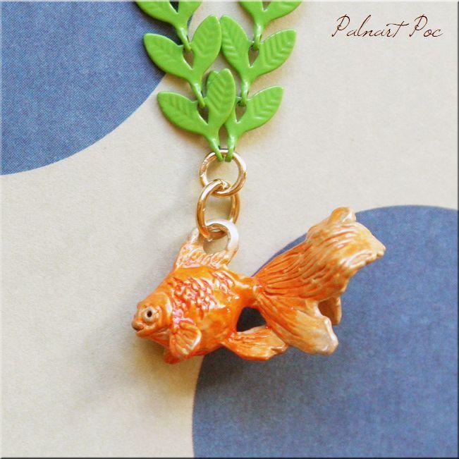 画像1: 水底のお嬢さん ネックレス 金魚