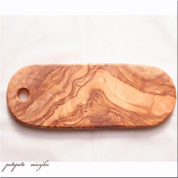 画像1: カッティングボード オリーブ の 木 まな板 オーバル ナチュラルカッティングボード サービングボード