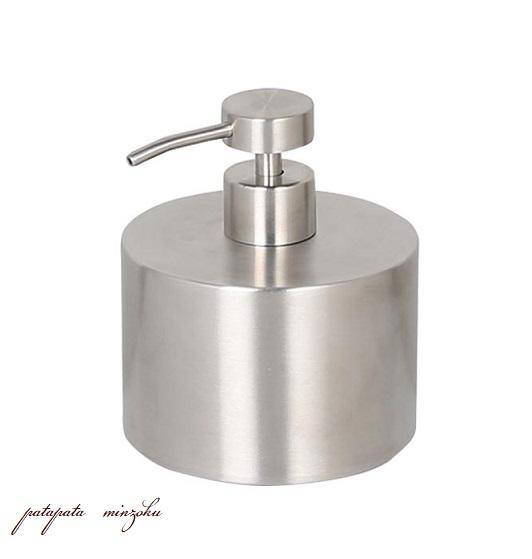 画像1: ステンレス スチール ソープ ディスペンサー シリンダー STAINLESS STEEL SOAP DISPENSER