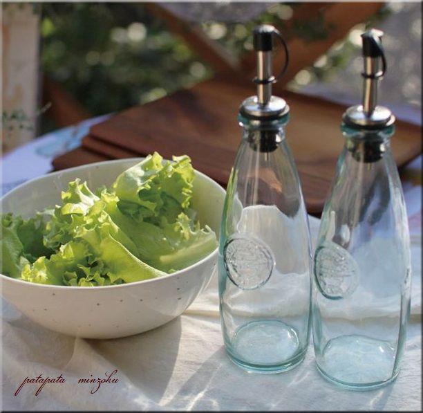 画像1: オイル& ビネガーボトル 2本セット 300ml スペイン製 エコガラス