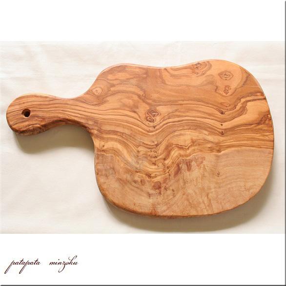 画像1: カッティングボード オリーブ の 木 まな板 持ち手付き  ナチュラルカッティングボード サービングボード