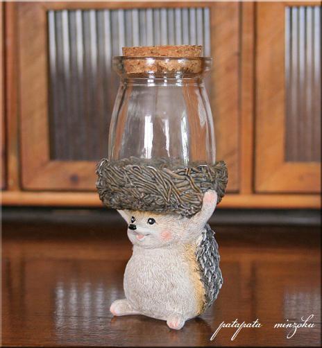 画像1: ハリネズミ ガラスボトル