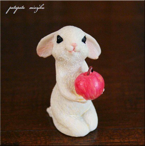 画像1: うさぎとりんご  ラビット