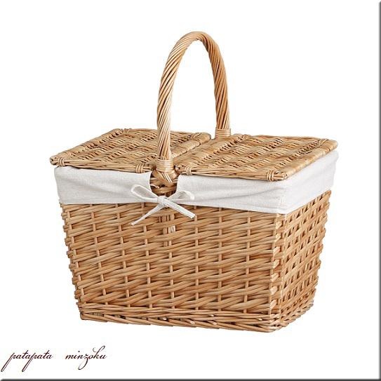 画像1: ウィロー ・ ピクニック バスケット かごバッグ