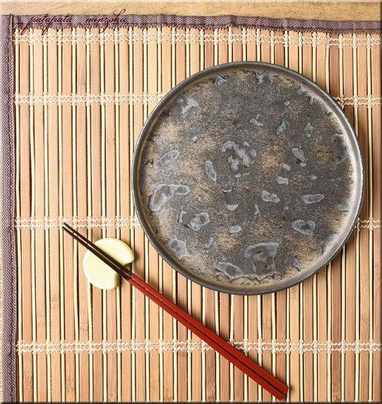 画像1: 美濃焼 金麗 19cm 丸 浅口 切立皿 和食器 プレート 皿