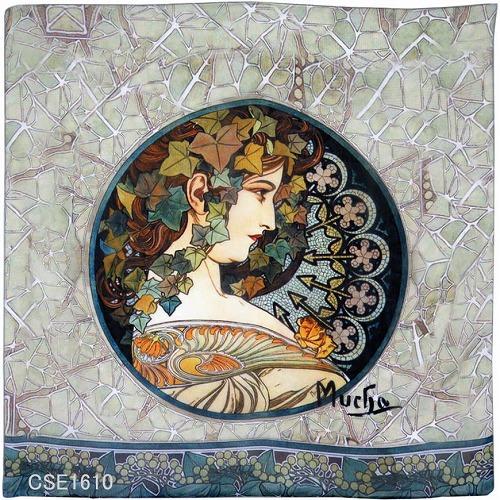 画像1: ミュシャ 裏窓 スカーフ