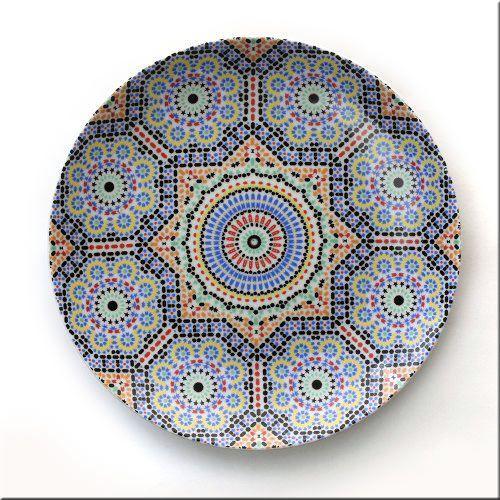 画像1: MARATERRE マラテール 平皿 20cm フェズ 陶器 プレート 皿