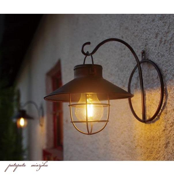 画像1: ソーラー ガーデンライト ラテルネ アンティークブラウン LED 防水 アンティーク調