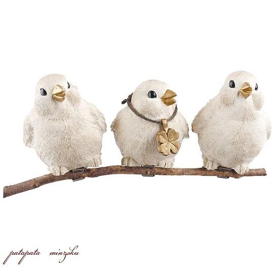 画像1: リトルバーズ ガーデンオーナメント クリップ 3羽セット 小鳥 バード