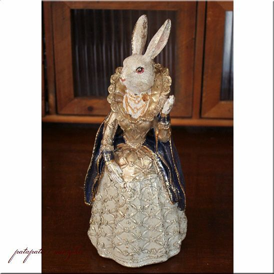 画像1: アンティークラビット ドレス ラビット ウサギ