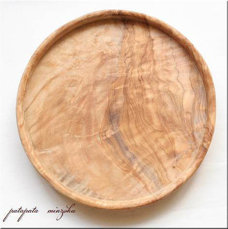画像1: オリーブの木 トレイ プレート S 浅皿 オリーブ