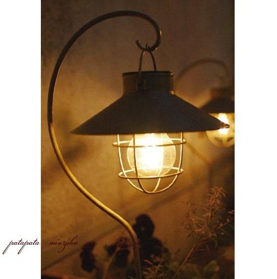 画像1: ソーラー ガーデンライト ラテルネ アンティークブラウン スタンド&スティックタイプ  LED 防水 アンティーク調