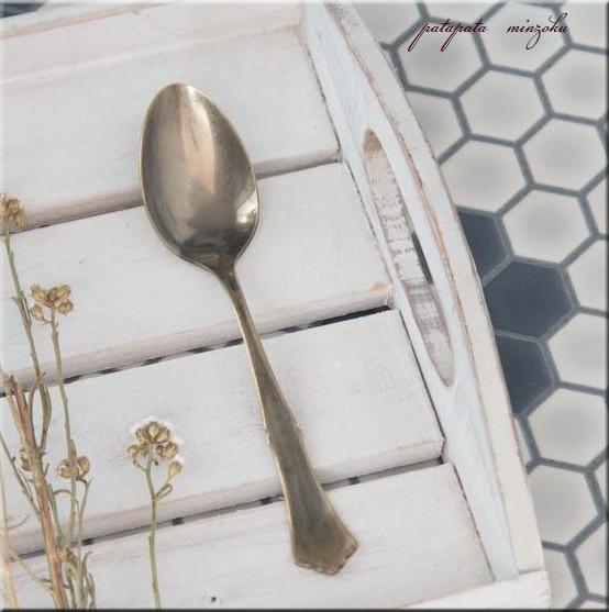 画像1: デザートスプーン 燕三条 クラシカルカトラリー アンティークゴールド