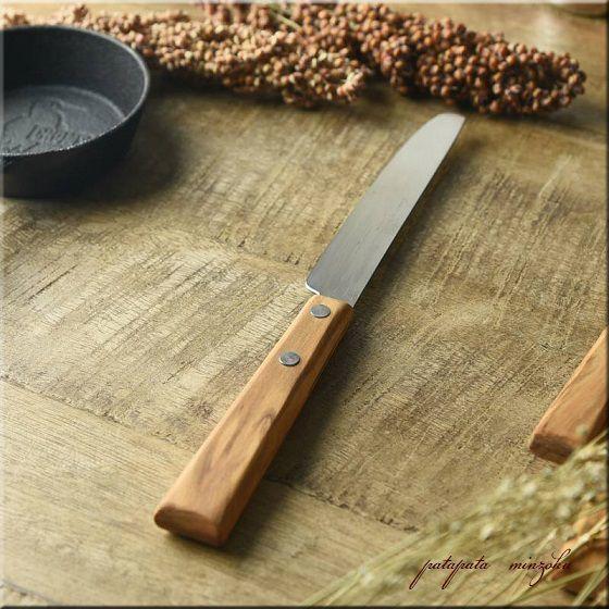 画像1: コトカ デザートナイフ 燕三条 天然木 ナイフ