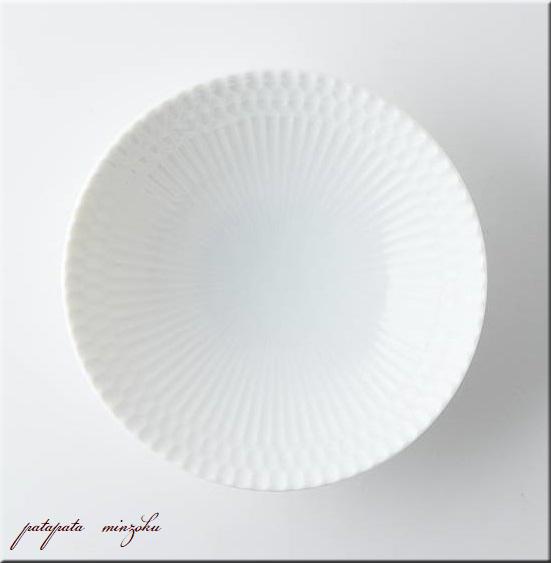 画像1: 小田陶器 さざなみ 13cm 深皿 白 美濃焼 陶器 皿