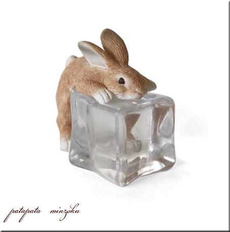 画像1: ICE ANIMALS ラビット 置物 オブジェ うさぎ ウサギ