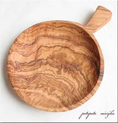 画像1: オリーブの木 トレイ 取っ手付き プレート 小皿 S 15cm 浅皿 オリーブ